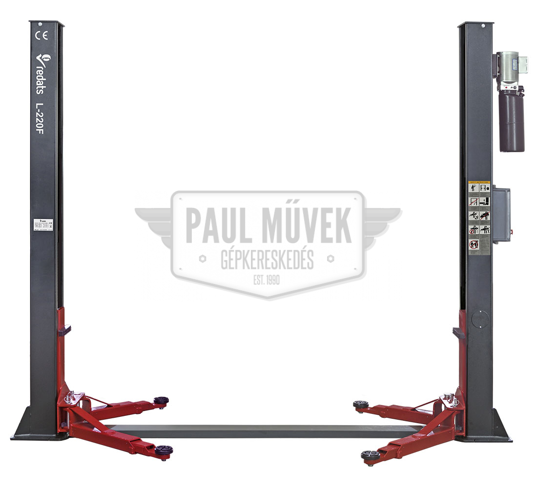 L-220F two-post car lift – 4T, electric, 220V